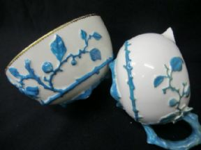 SOLD - E J D Bodley Aesthetic milk jug & sugar bowl